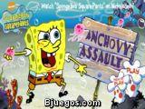 Bob Esponja Anchovy Assault