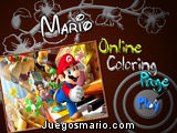 Mario Online Coloring Page