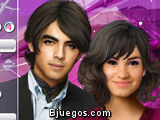 Maquillar a Joe Jonas y Demi Lovato