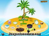 Cocinando en la isla