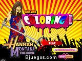 Coloring Hannah Montana
