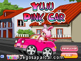Esquiva obstculos con el coche rosa de Yuju
