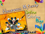 Halloween Mickey Coloring
