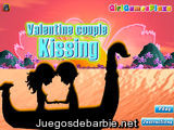 Valentine Couple Kissing