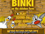 Binki on the chicken farm
