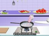 Cocina sopa de Tomate